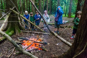 Today we light a fire in the woods and toasted marshmellows